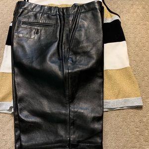 Women's Black Leather pants sz 12 Tommy Hilfiger